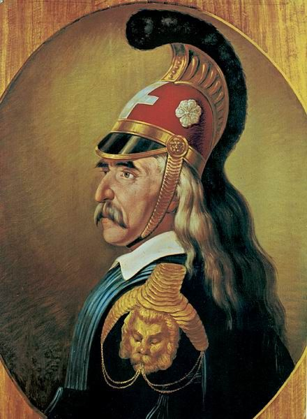 Theodoros Kolokotronis. Ranked 3rd Greatest Greek of all times, the Old Man of Morias was the strategic genius army leader of the Greeks during the victorious Independence War of 1821.