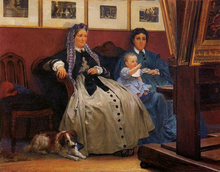 Chair, 1867. | 'My Studio' by Lawrence Alma-Tadema (Dutch, 1836-1912). Oil painting from 1867. Via http://www.myinnervictorian.nl/alma-tadema-fries-museum/