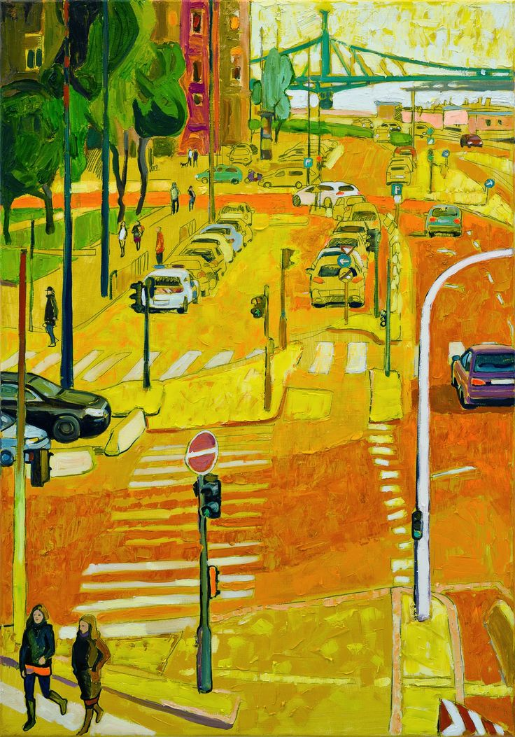 Osgyányi Sára Belgrád rakpart, Irányi utca  2014 olaj-vsázon 120x80