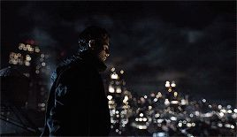 Batman mode...Bruce standing on a rooftop of #Gotham in the darkness! Destiny calls... #bruce #batman season 3 finale