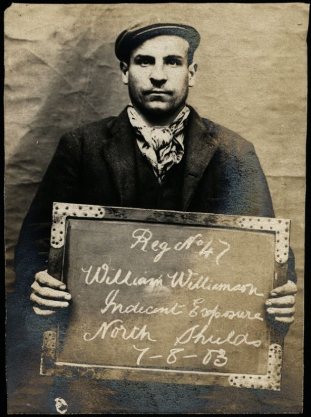 "https://flic.kr/p/sepRG9 | William Williamson, arrested for indecent exposure | Name: William Williamson Arrested for: Indecent exposure Arrested at: North Shields Police Station Arrested on: 7 August 1903 Tyne and Wear Archives ref: DX1388-1-19-William Williamson  The Shields Daily Gazette for 7 August 1903 reports:  ""INDECENT EXPOSURE AT NORTH SHIELDS  William Williamson, a labourer of South Shields, was charged at North Shields to-day with indecently exposing himself yesterday aftern..."