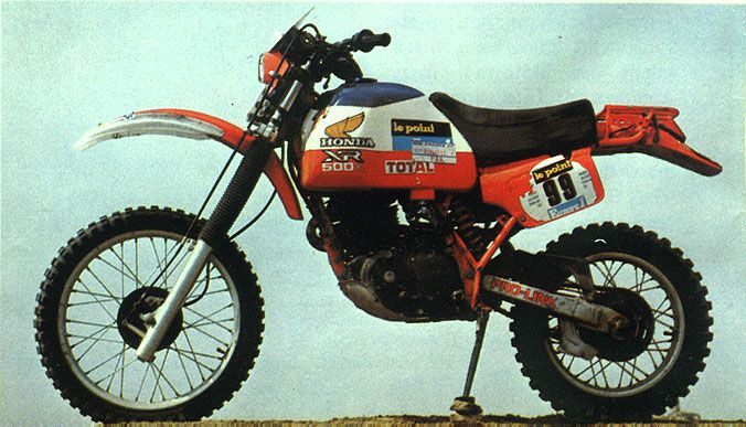 1982 honda xr550 pparis dakar champion motorcycle of cyril. Black Bedroom Furniture Sets. Home Design Ideas
