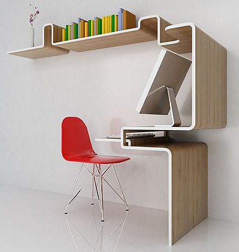 Great space-saving idea.: Big Solutions, Design Pads, Creative Desks, Furniture Creationsdiy, Spaces Save Desks, Google Search, Tights Spaces, Furniture Design, Small Spaces