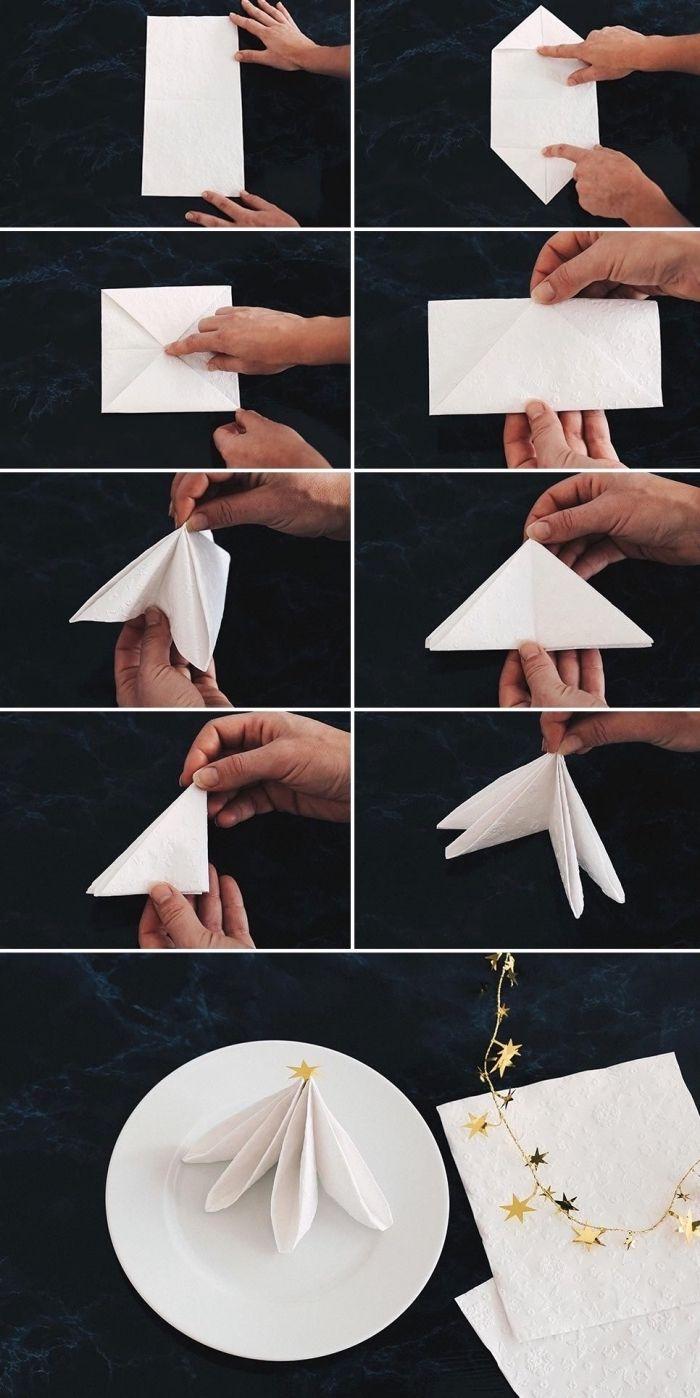 Idée Tuto Pliage Serviette Papier Facile, Loisir Créatif Avec Art Origami,  Comment Plier Une