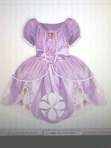 #Halloween : DISNEY PRINCESS SOFIA THE FIRST COSTUME PLAY DRESS UP 18/24 MO-2/3-5/6 4 SIZES AVAIL #HalloweenCostume #2013