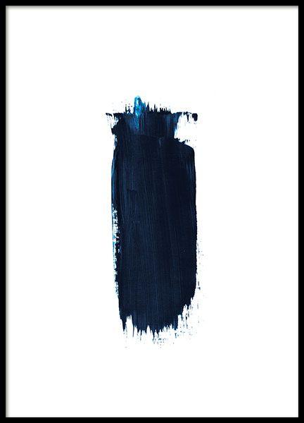 Blue brush stroke, poster i gruppen Posters och prints / Storlekar / 30x40cm hos Desenio AB (8387)