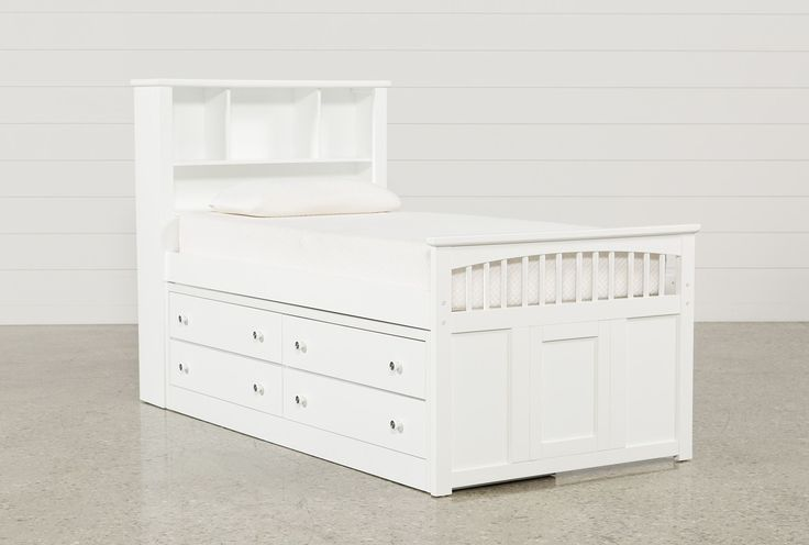 Bayfront Twin Captains Bed W/Double 4-Drawer Unit - 360