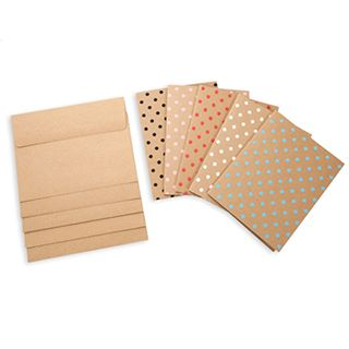 Core'dinations Kraft Polka Dot Pop Blank Cards and Envelopes - A2, 4.25 x 5.5 inches