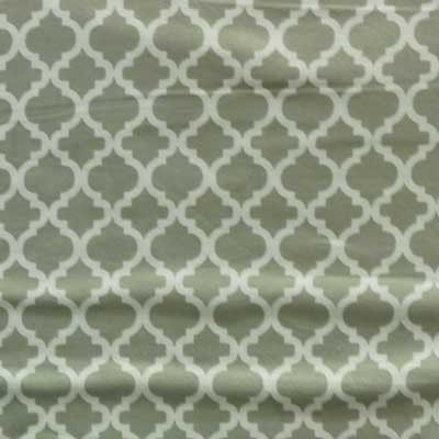 Gray & White Moraccan Tile Flannel
