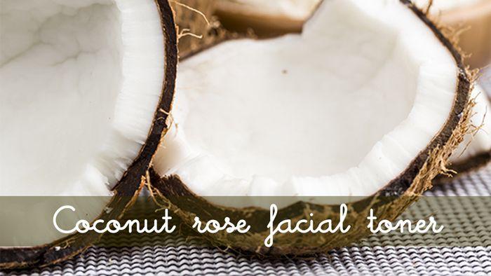 Benefits of Facial Toners. Try this coconut rose facial toner recipe. Easy DIY natural beauty recipe.