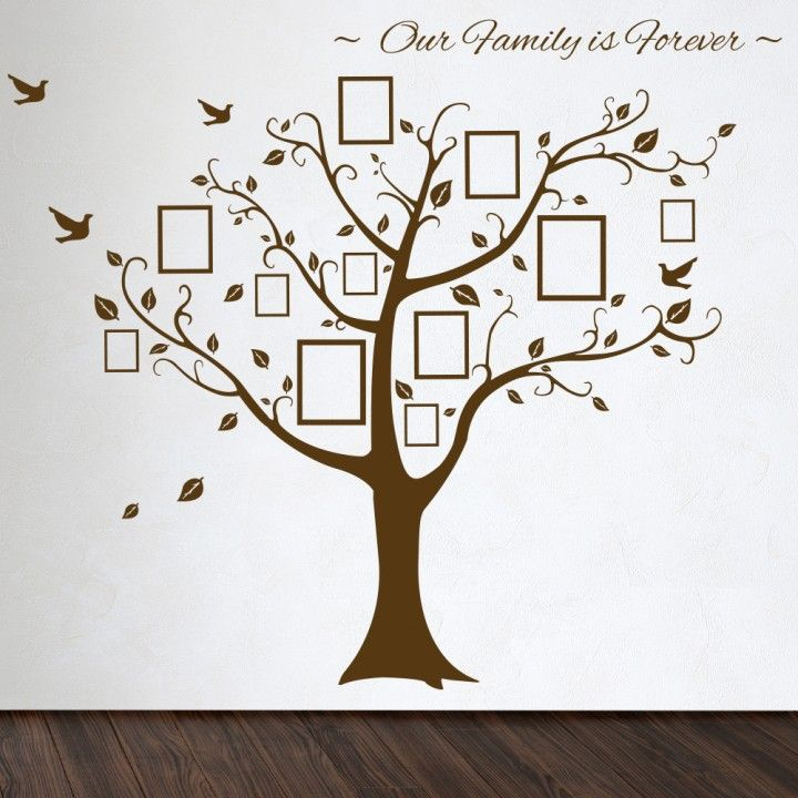 Roommates Family Tree Wall Decal With Vinyl Wall Decals Style That Have  Rectangle Shaped Picture Frames