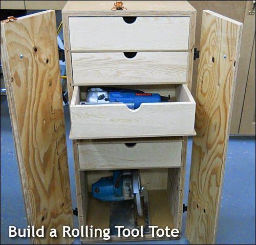 Ah! E se falando em madeira...: gaveteiro para ferramentas