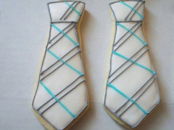 What a great gift for Fathers Day, Dads birthday, the perfect set of cookies for an upcoming baby shower or to congratulate new parents on their arrival of a baby boy, look no further! The cookies are 4 and are decorated with royal icing. This order is for 1 dozen white, aqua, and