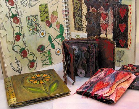 'Tudor Splendour' sketchbooks and books (click to enlarge)