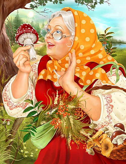 Illustrations for magazine by INORAMA illustrators, via Behance