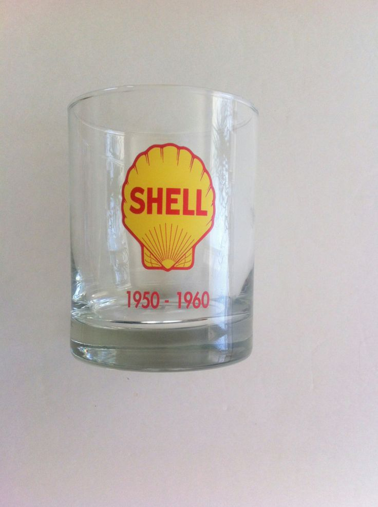 Vintage Old Fashioned Glass Shell Oil Company 1950-1960 by Pesserae on Etsy