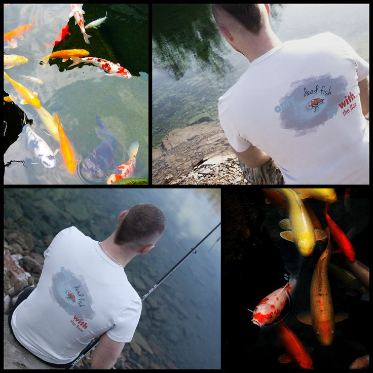 """""""Only dead fish go with tle flow"""" Tee for strong and independent! From Motivation Factory Poland"""