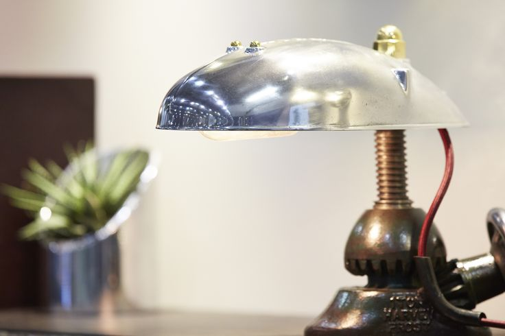 A close up of one of our signature desk lamps at Grand Designs Live