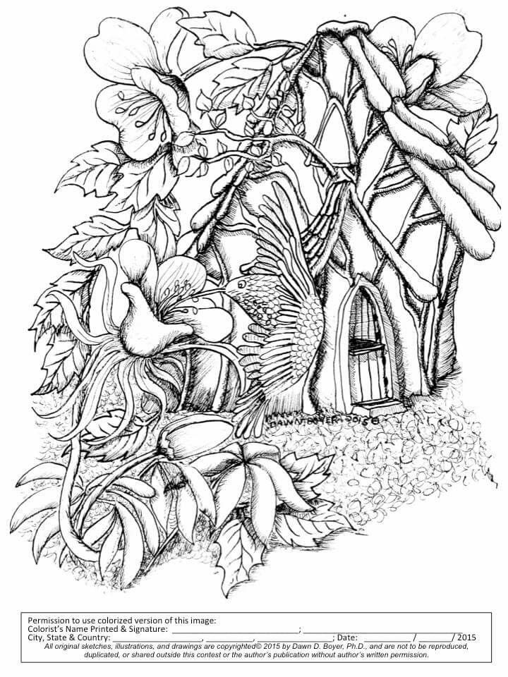 15 best fairy houses and fairy doors images on pinterest for Fairy house coloring pages