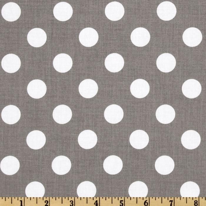Riley Blake Dots Medium Grey - Discount Designer Fabric - Fabric.com $7.82/yd