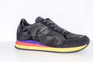 Crime of London Black Runner with Colorful sole