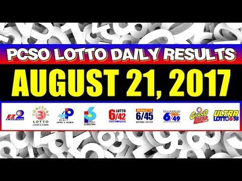 PCSO Lotto Result Today August 21, 2017 COMPLETE & OFFICIAL - (More info on: https://1-W-W.COM/lottery/pcso-lotto-result-today-august-21-2017-complete-official/)