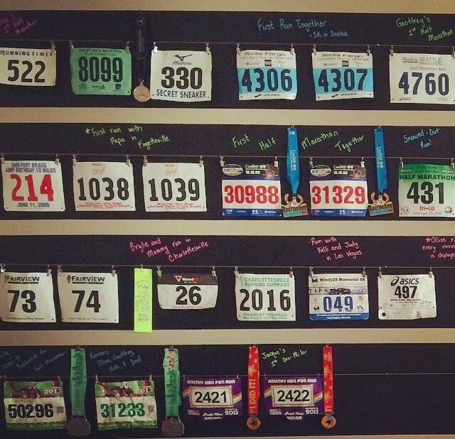Deb Runs | Saving Buku Bucks – DIY Race Medal Display | http://debruns.com