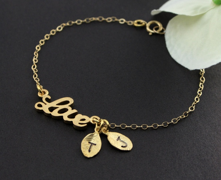 Personalized The Ones I Love Bracelet - Gold Gold quot Love quot Bracelet His and