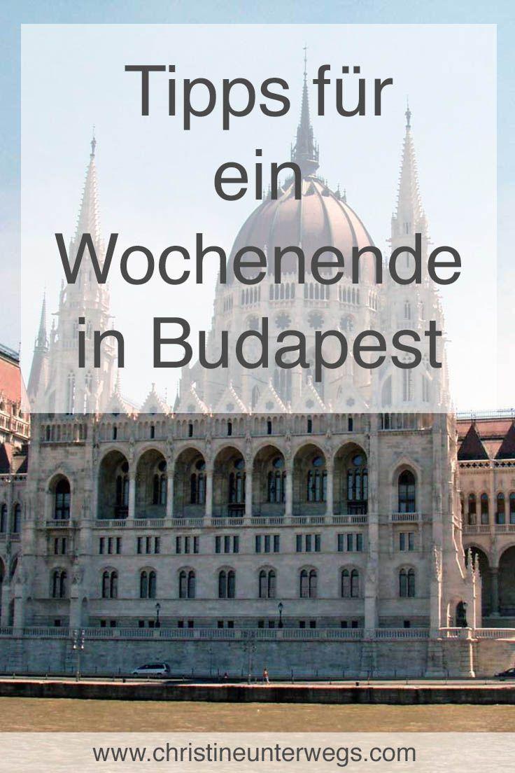 Meine Tipps für ein Wochenende in Budapest findest du hier: https://www.christineunterwegs.com/reisen/ungarn/reisen-budapest/