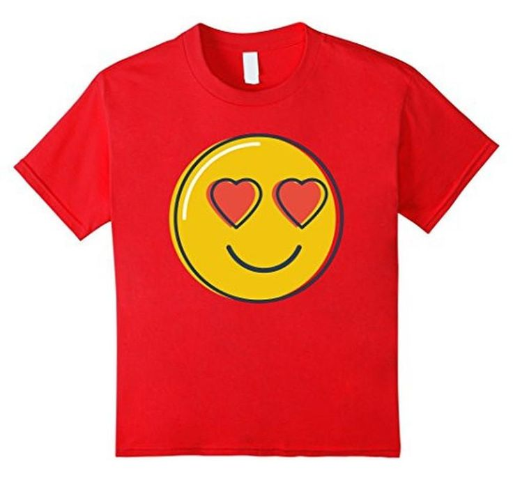 Women's Men's Love Emoji Heart Eyes Smiley Emoji T-Shirt