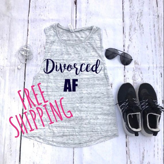 Divorced AF tank, divorce party shirt custom tank, Graphic tank, women tank, cute tank, tank quote, fashion, gift for her , gift ideas,