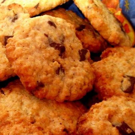 Csokis-zabpelyhes keksz Recept képpel - Mindmegette.hu - Receptek