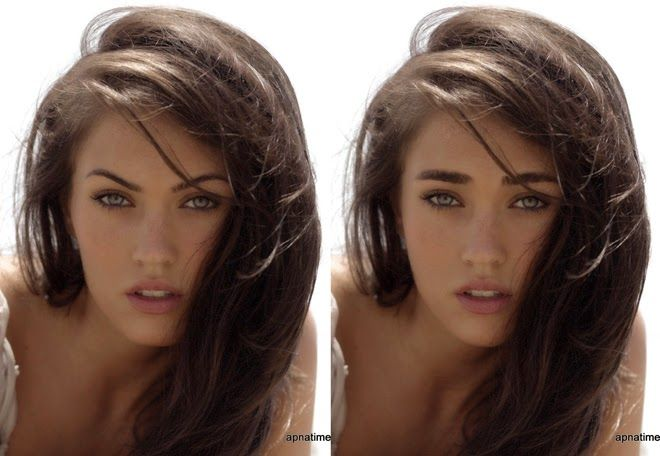 straight eyebrows vs arched.  Do you want to look hotter or younger?