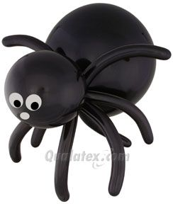 This spooky-sweet chunky Balloon Spider is from Qualatex wants to meet your family! Invite this black balloon sculpture for #Halloween