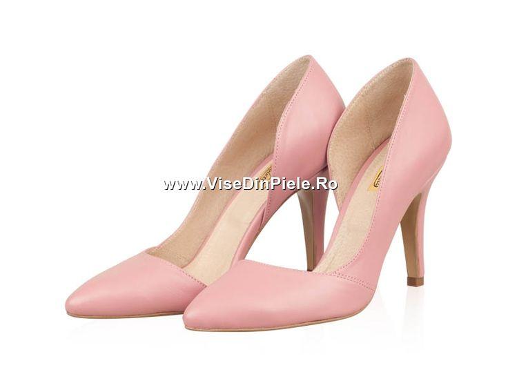 Vise din Piele - REDUCERI :: Pantofi piele dama P164N Roze