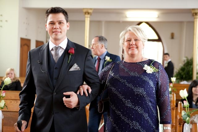 Beautiful Mom-in-law with her son, the groom