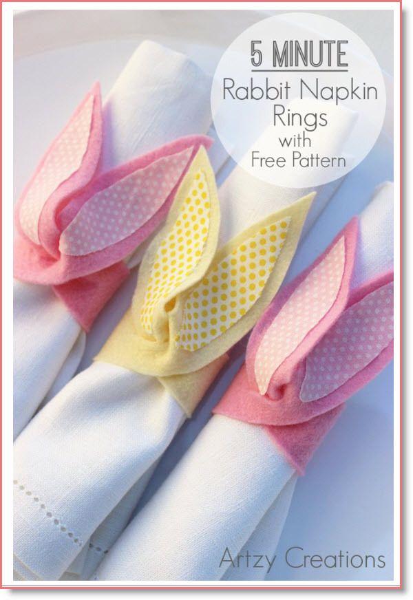 5 Minute Rabbit Napkin Rings