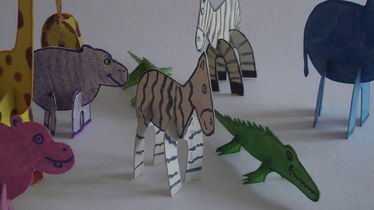 Cómo hacer animales 3D armables  en cartón