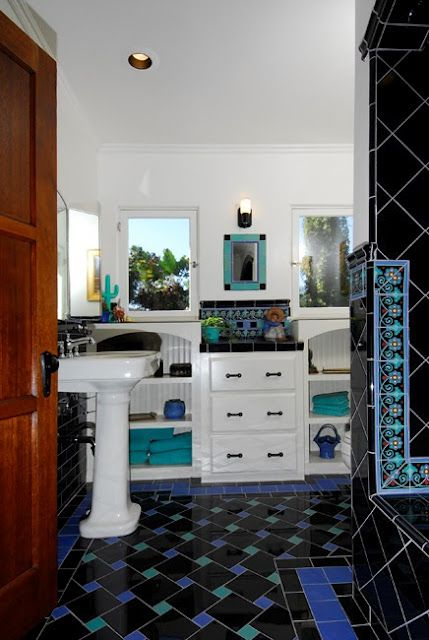 Good Home Construction's Renovation Blog: 1920's Spanish-Revival Art Deco  Bathroom | Spanish Revival Style | Pinterest | Art deco bathroom, Spanish  revival ...