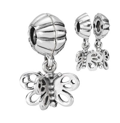 Friends forever butterfly dangle. Share it with your best friend. $60 #PANDORA #silver #charm #790531