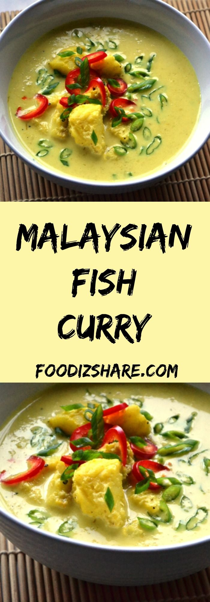 A deliciously rich, coconut based fish curry popular in Malaysia. #glutenfree #dairyfree #fish #seafood #coconut #comfortfood #healthyfood #food #Asian #recipes