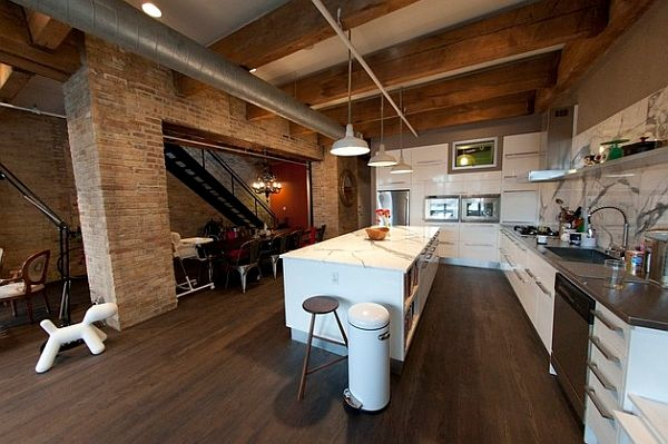 Modern kitchen showcases its industrial roots