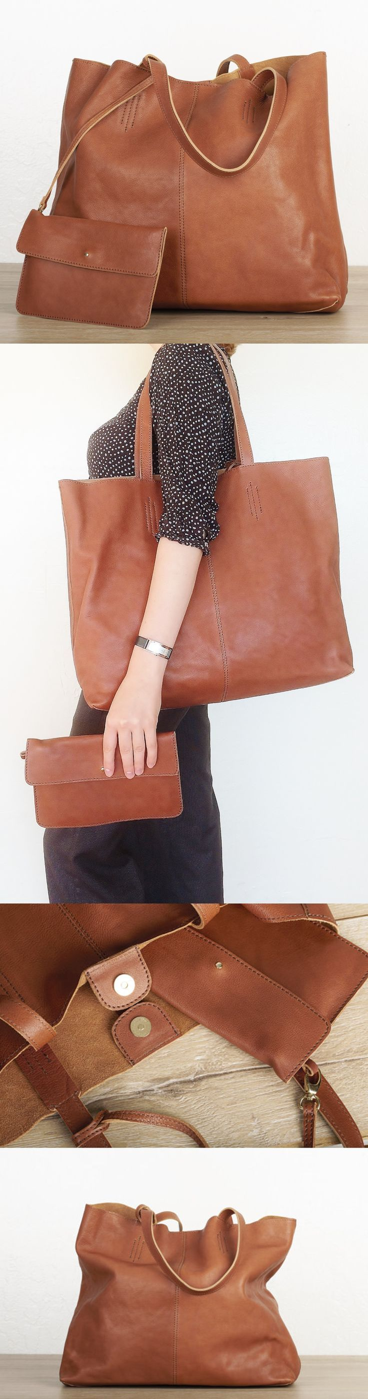 Elegant and spacious, this over-sized full grain leather tote by #TheLeatherExpert will be a problem-solver in your daily wardrobe. It's an ultimate everyday errands bag, roomy weekender, charming companion for a romantic getaway, spacious office bag and overall just an irreplaceable accessory for a fashion enthusiast.