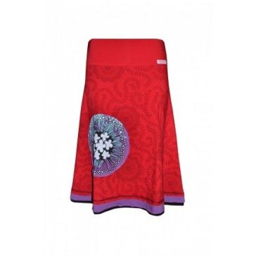M/L Allover Skirt - Red..Love the colours!