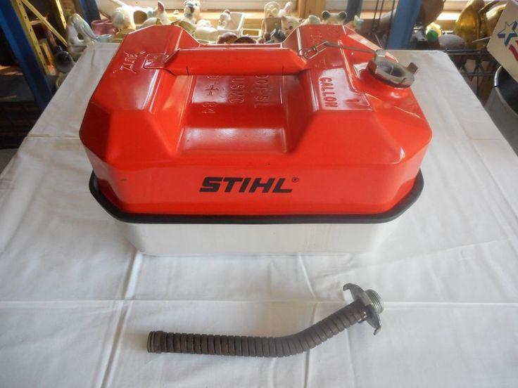 Very Nice Vintage 1984 Stihl Chainsaws Usmc Metal Gas Can