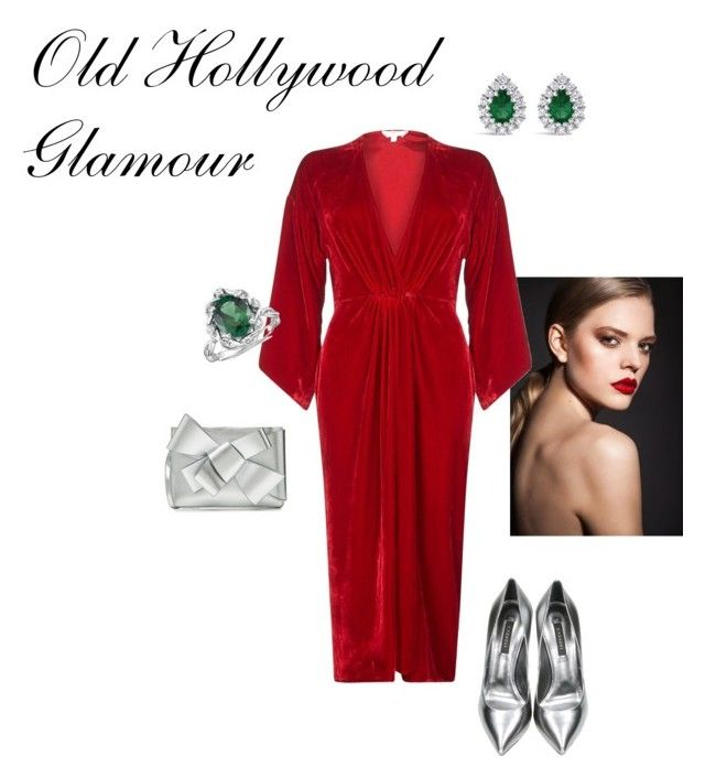 old hollywood glamour by nita-b-sk on Polyvore featuring Ghost, Casadei, Delpozo and Blue Nile
