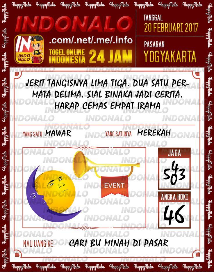 Taysen Hoki 4D Togel Wap Online Live Draw 4D Indonalo Yogyakarta 20 Febuari 2017