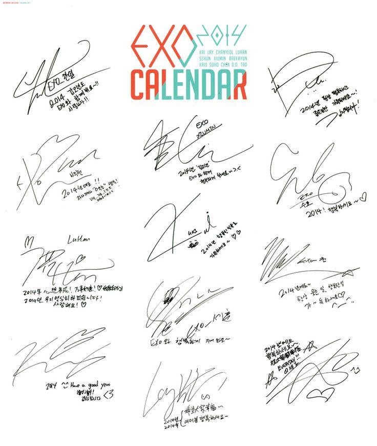 EXO's 2014 Season's Greetings official calendar & scheduler