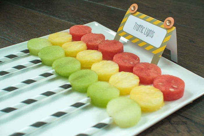Stop Light Fruit Kabobs from a Construction Birthday Party via Kara's Party Ideas! KarasPartyIdeas.com (6)