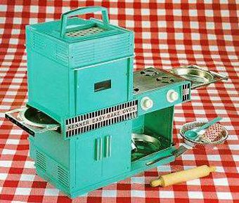 This was the easy bake oven I had as a child.  Compared to how I bake today?  Yep, this was WAY easy.  What fun I had with this oven...who knew a light bulb could bake a cake. ;)